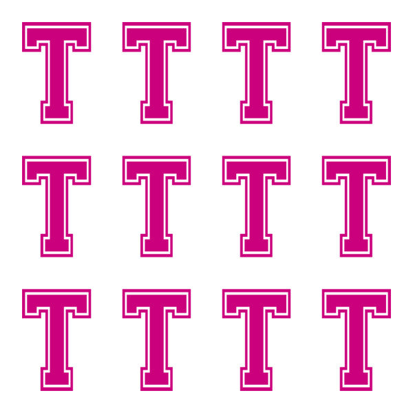 ID4 Varsity Large Pink Letter T
