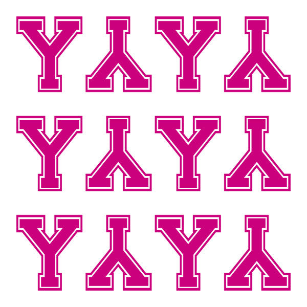 ID4 Varsity Large Pink Letter Y