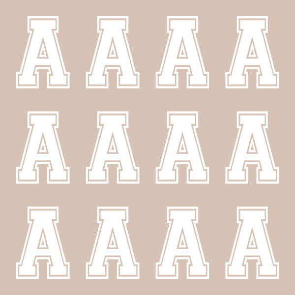 ID4 Varsity Large White Letter A