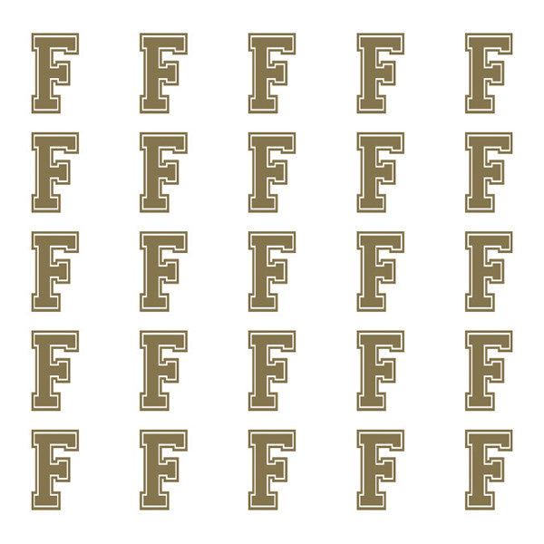 ID4 Varsity Small Gold Letter F