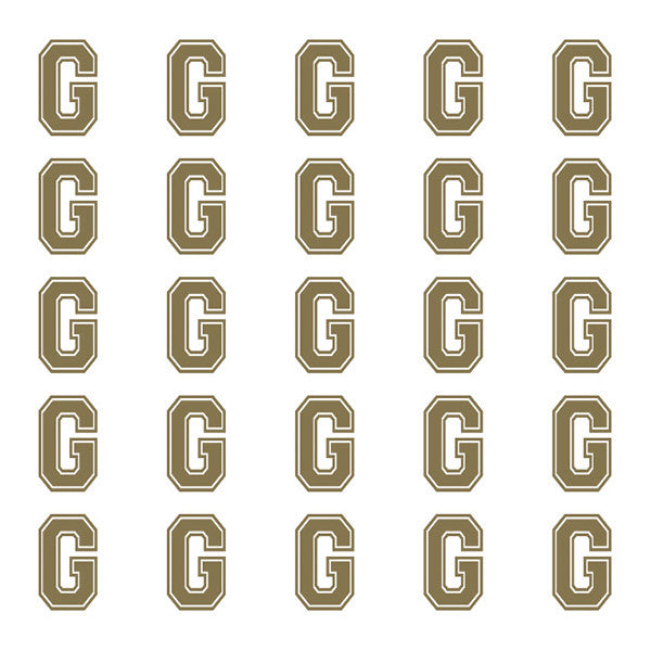 ID4 Varsity Small Gold Letter G