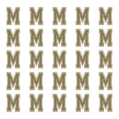 ID4 Varsity Small Gold Letter M