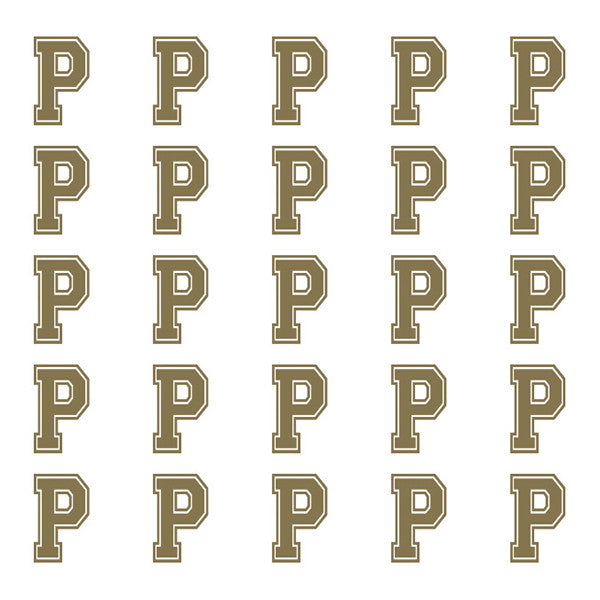 ID4 Varsity Small Gold Letter P