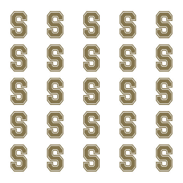 ID4 Varsity Small Gold Letter S