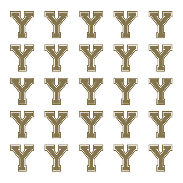 ID4 Varsity Small Gold Letter Y