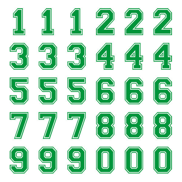 iD4 Varsity Small Green Number Kit