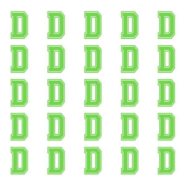 ID4 Varsity Small Lime Letter D