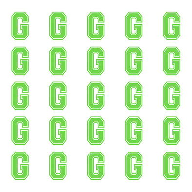 ID4 Varsity Small Lime Letter G