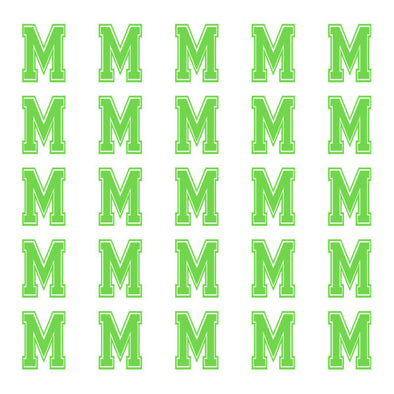 ID4 Varsity Small Lime Letter M