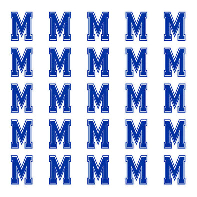 ID4 Varsity Small Navy Blue Letter M