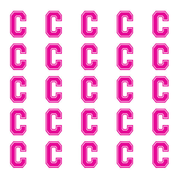 ID4 Varsity Small Pink Letter C