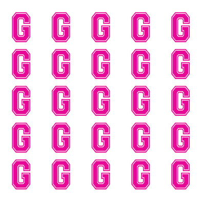 ID4 Varsity Small Pink Letter G