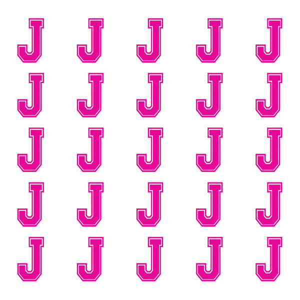 ID4 Varsity Small Pink Letter J