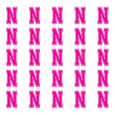 ID4 Varsity Small Pink Letter N