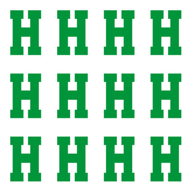 ID4 Varsity Pro Large Green Letter H