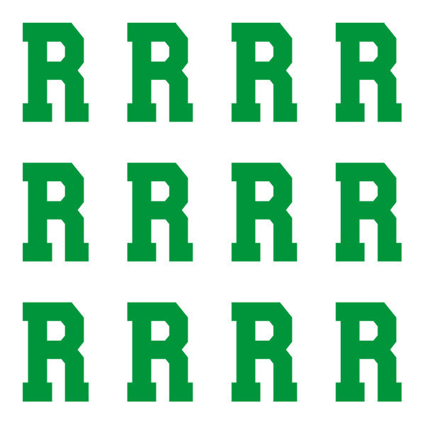 ID4 Varsity Pro Large Green Letter R