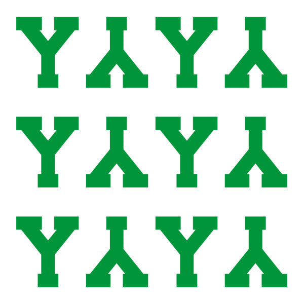 ID4 Varsity Pro Large Green Letter Y