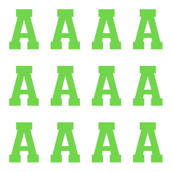 ID4 Varsity Pro Large Lime Letter A