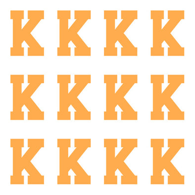 ID4 Varsity Pro Large Neon Orange Letter K