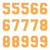 iD4 Varsity Pro Number Kit Orange Large Neon Sheet 2