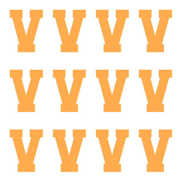 ID4 Varsity Pro Large Neon Orange Letter V