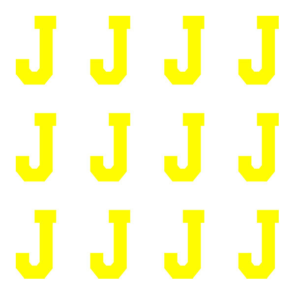 ID4 Varsity Pro Large Neon Yellow Letter J