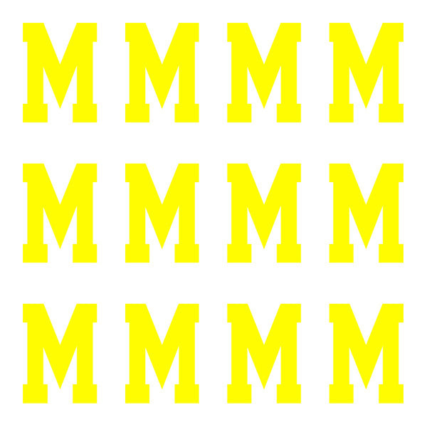 ID4 Varsity Pro Large Neon Yellow Letter M