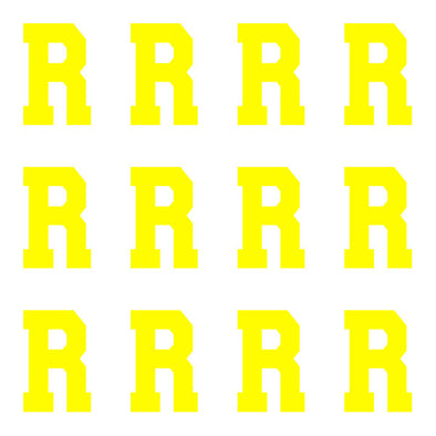 ID4 Varsity Pro Large Neon Yellow Letter R