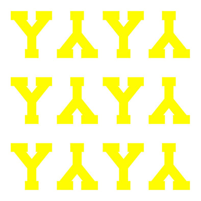 ID4 Varsity Pro Large Neon Yellow Letter Y