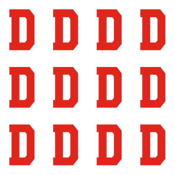 ID4 Varsity Pro Large Red Letter D