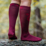Compression Merino Socks - Red wine