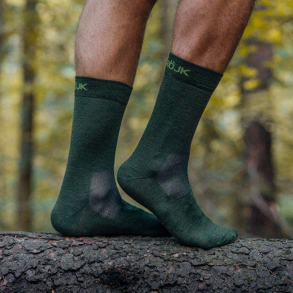 Everyday Merino Socks - Forest Green