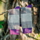 Everyday Merino Socks - Heavy stripes Purple