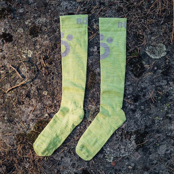 Compression Merino Socks - Lime