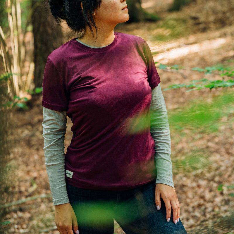 Women's Merino T-shirt - Wine