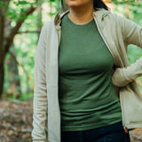 Women's Merino T-shirt - Bronze Green