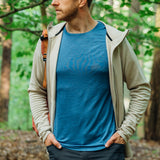 Men's Merino T-shirt - Bright Cobalt