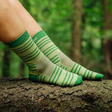Everyday Merino Socks - Lime stripe