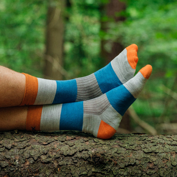 Everyday Merino Socks - Heavy stripes Orange