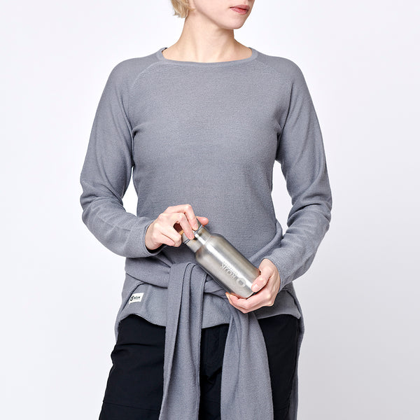 Women's Stray Merino Sweater - Grey Marl