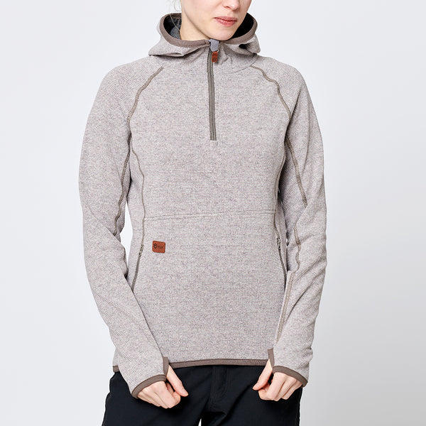 Limited Women's Monk Pullover Wool Hoodie - Sand Beige