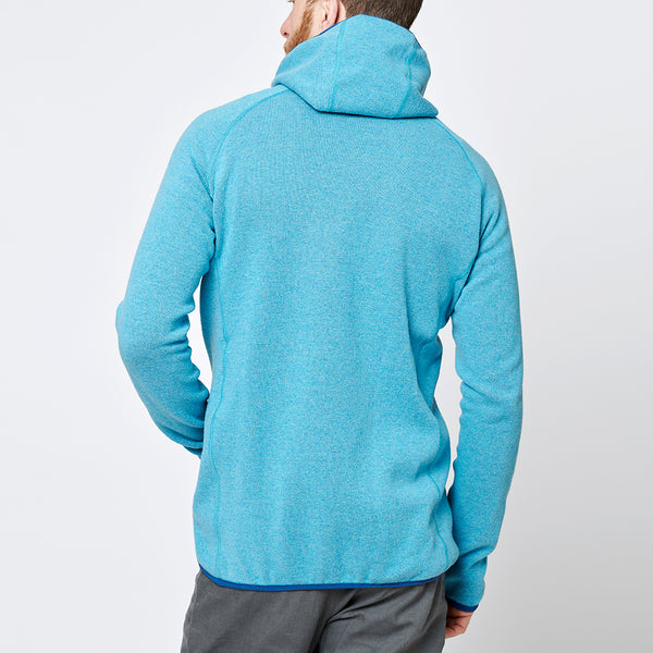 Limited Men's Monk Pullover Wool Hoodie - Ice Blue