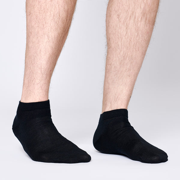 Everyday Merino Short Socks - Black
