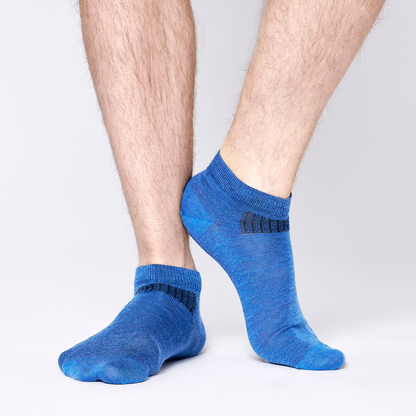 Everyday Merino Short Socks - Blue