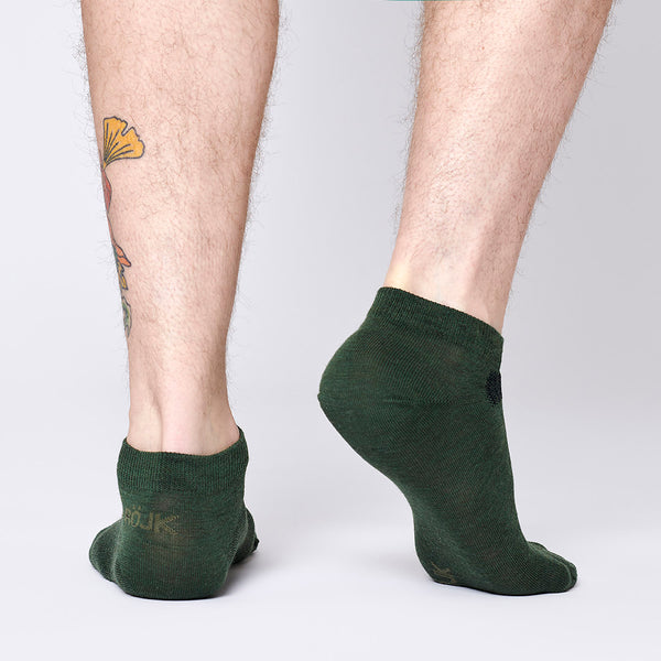 Everyday Merino Short Socks - Juniper Green