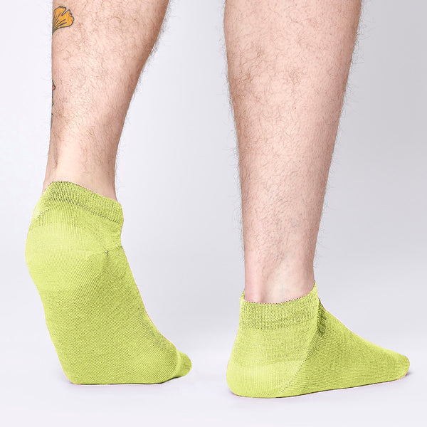 Everyday Merino Short Socks - Lime