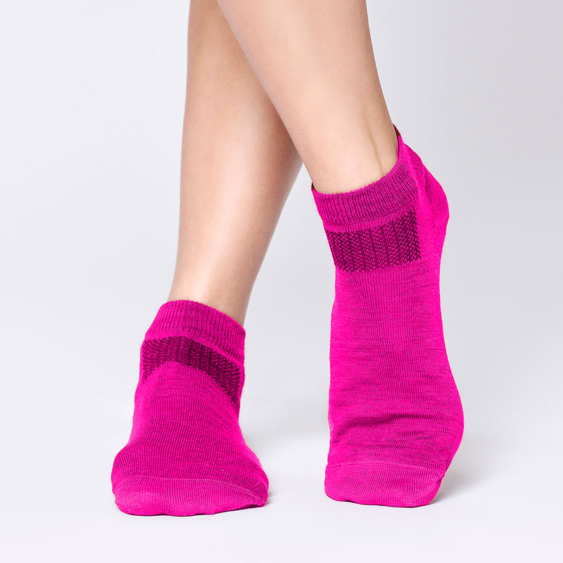 Everyday Merino Short Socks - Magenta