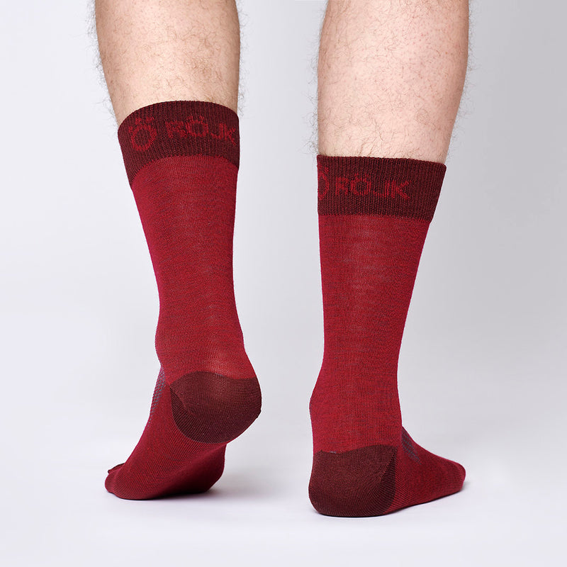Everyday Merino Socks - Cranberry Red