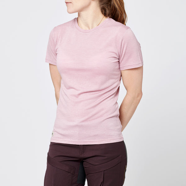 Women's Merino T-shirt - Rose