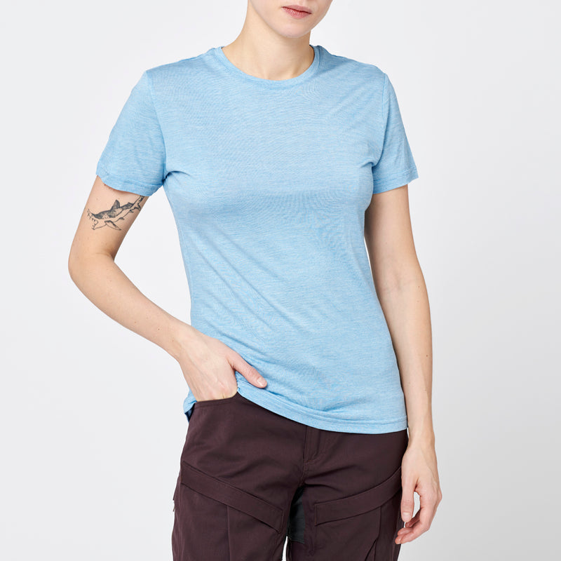 Women's Merino T-shirt - Light Blue
